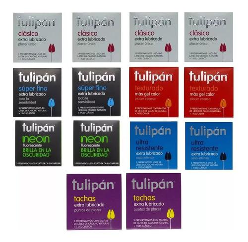 tulipán preservativos surtidos 14 cajitas x 3