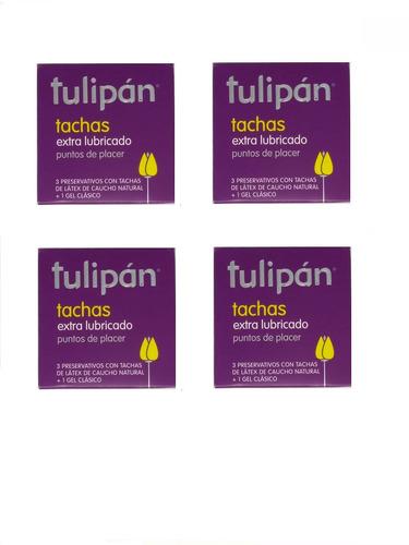 tulipán preservativos tachas 4 cajitas x 3