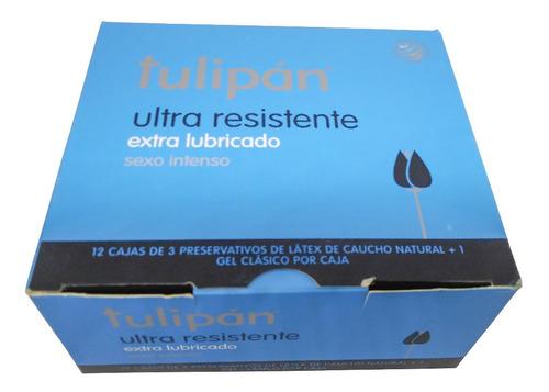 tulipán preservativos ultra resistentes 12 cajitas x 3