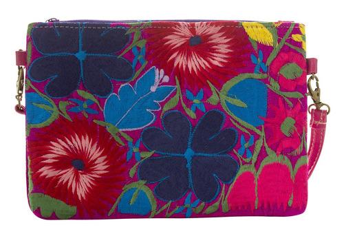 tulipan sintetico  bolsa mujer artesanal mexicana