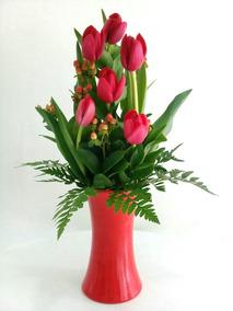 Tulipanes Arreglo Florales Flores Madre