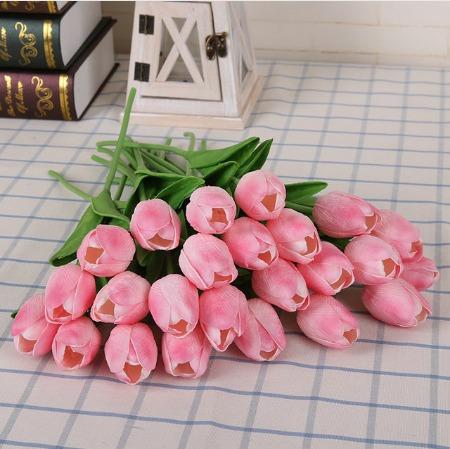 tulipanes decoracin flores hogar centro mesa