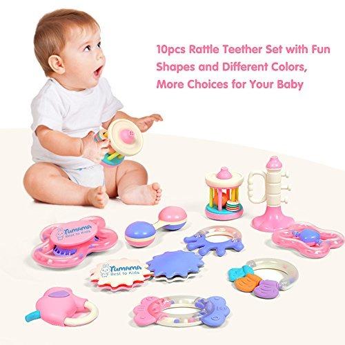 Tumama 4 piezas sonajero para beb 3 6 9 meses beb s juguetes para navidad - Juguetes para bebes 9 meses ...