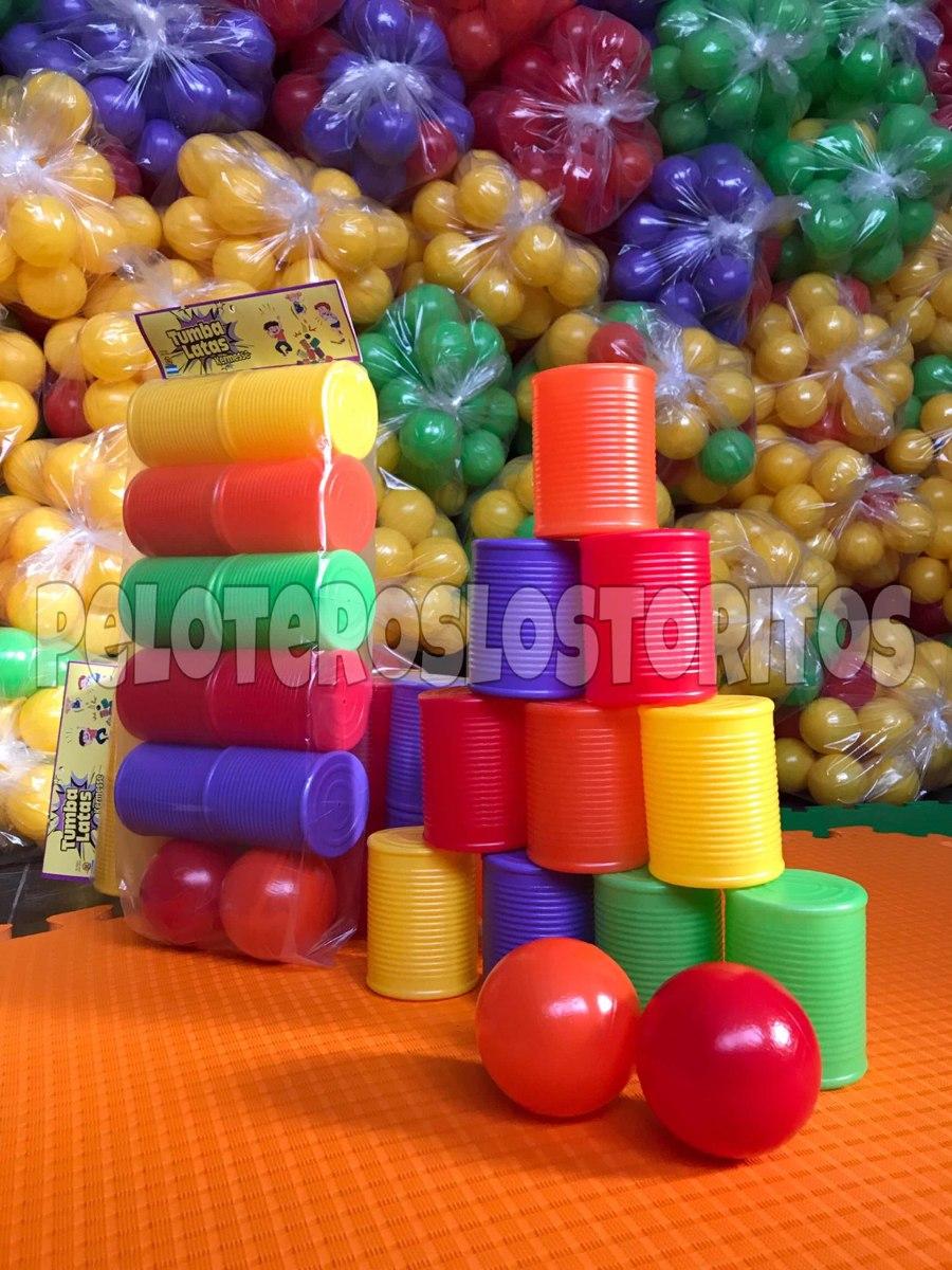 Tumba Latas Juego Kermesse Pelotas Pelotero 135 00 En Mercado Libre