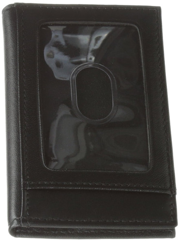 tumi hombre delta multi window card holder, negro, un tamaño