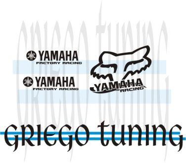 tun adhesivo en vinilo alemán para  yamaha  3 piezas