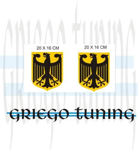 tun adhesivo en vinilo  auto/cam   escudos alemánes  2 unid