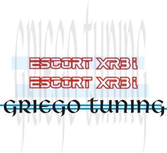 tun  adhesivo en vinilo cant2  ford escort xr3i  bajo puerta