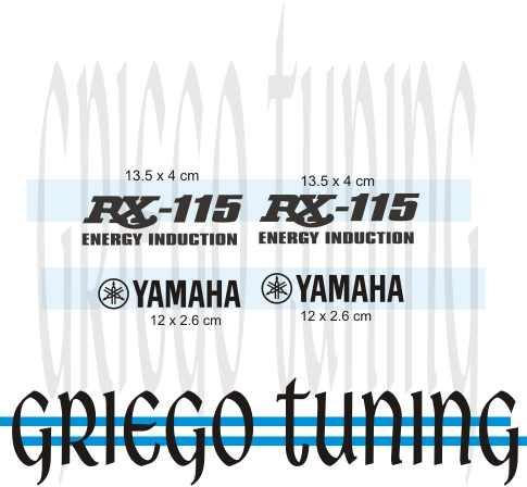 tun adhesivo en vinilo   yamaha rx 115  1 solo color 4 piez