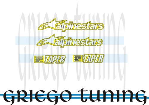 tun adhesivos en vinilo alemán  alpinestars  4 piez,amarillo