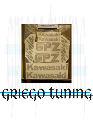 tun adhesivos en vinilo aléman x  kawasaki gpz 600r