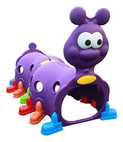 túnel centopeia infantil playground desmontável violeta
