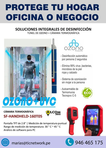 tunel de desinfeccion con ozono + camara termografica