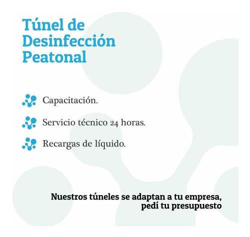 túnel de desinfección peatonal y vehicular bioseguridad