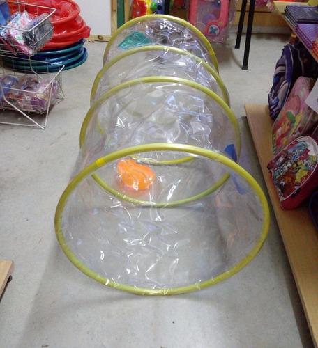 tunel transparente de 1.20mt largo x 0.50 de diametro