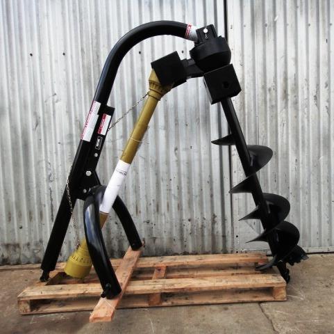 tunelera - hoyadora para tractor, con mecha. reforzada.