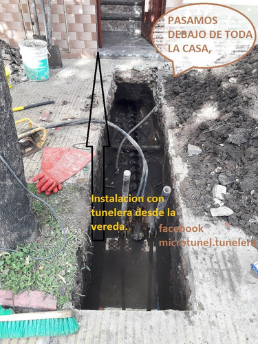 tunelera para conectar a cloaca.