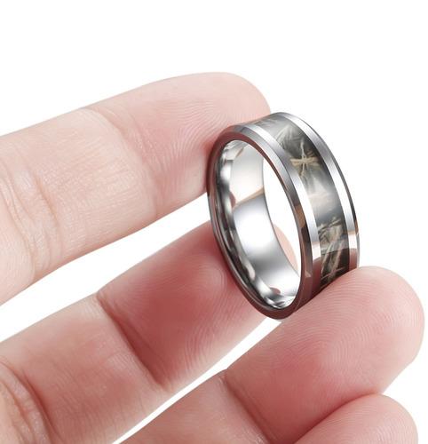tungary joyería 8 mm para hombre de carburo de tungsteno ani