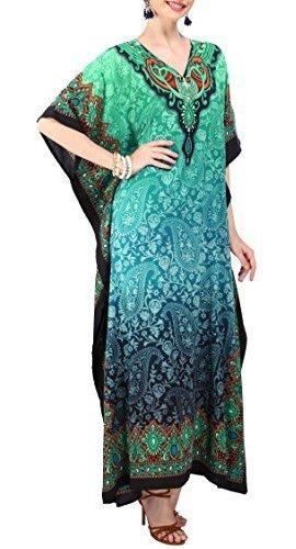 tunica kaftan vestido de kimono para damas verano mujer fies