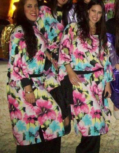 túnica saidi estampada para danza arabe belly dance