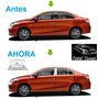 Perfiles Bisel Cromado Acero Ventana Toyota Yaris 2014 2015