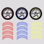 Filete Sticker Llantas Moto Auto Vinilo Color No Reflectivos