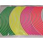 Filete Stickers Llantas Moto Auto Vinilo Colores Reflectivos