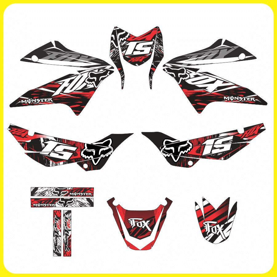 tuning motos honda xr 150  monster  rockstar  fox stickers Suzuki Logo Fox Racing Motocross Logo