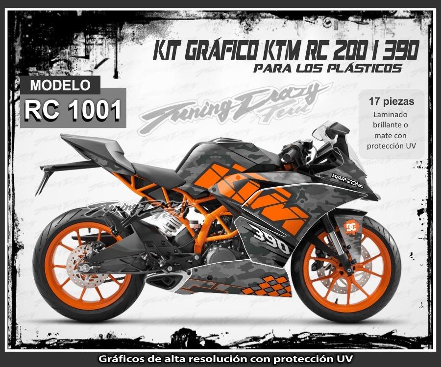 tuning motos ktm rc 200 390 rockstar fox stickers s. Black Bedroom Furniture Sets. Home Design Ideas