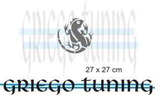 tuning (ploter) adesivo  iguana vinilo de primera calidad
