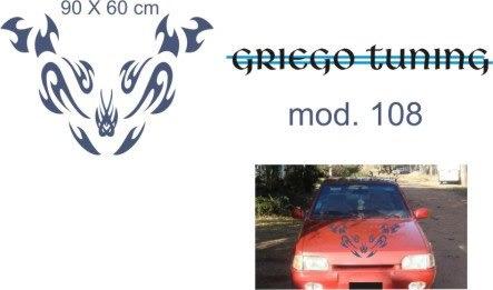 tuning (ploter) adhesivo  capó vinilo oracal alemán mod 108