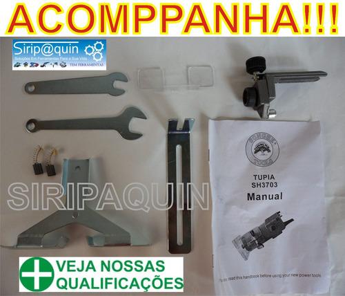 tupia laminadora manual p/ fresa de 6mm 350w 30.000rpm 220v