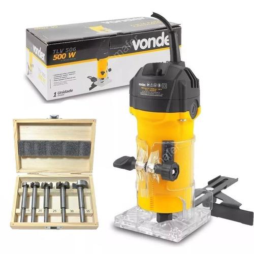 tupia manual elétrica fixa 500w tlv506 vonder 220v + fresa
