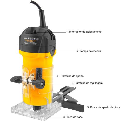 tupia manual elétrica laminados 500w 6 mm tlv506 vonder 127v