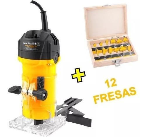tupia manual + jogo de fresas 12 peças vonder frete grátis