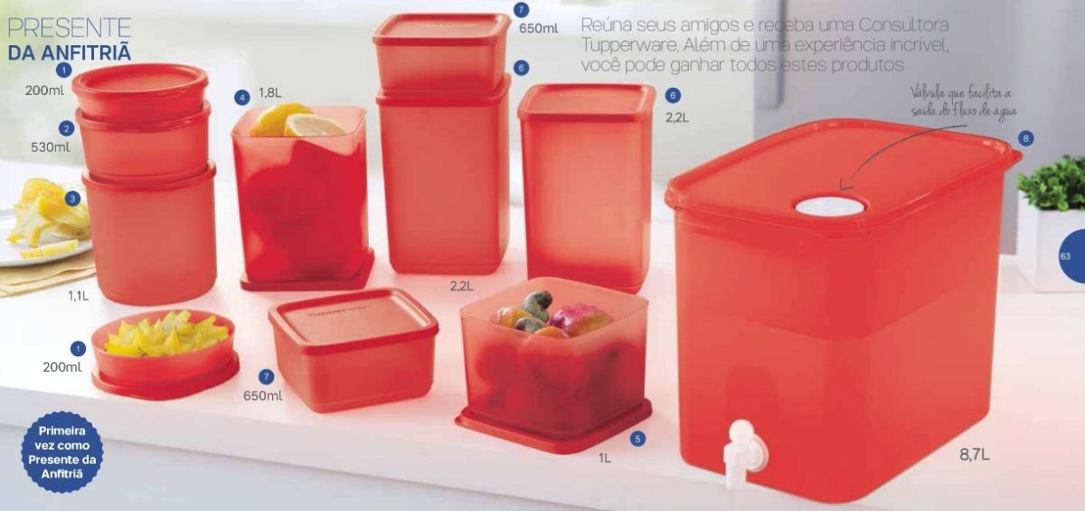 Tupperware Bea 09-2018 Conjunto Refri Line Chilli 11 Peças - R  399,00 em  Mercado Livre 9bde526180