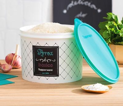 tupperware caixa arroz 2 kg linha bistrô