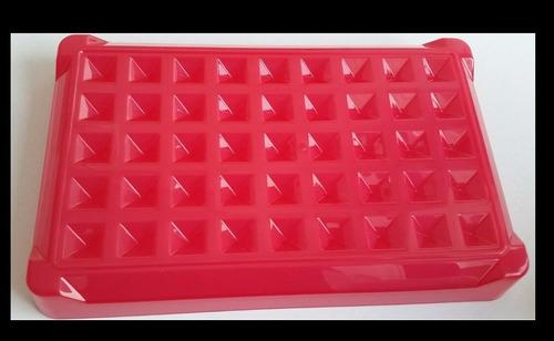 tupperware porta salsicha - 850 ml - semi-novo vermelho