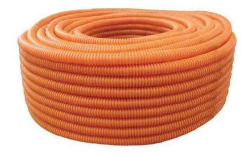 tupssaflex reforzado naranja 1/2  con guia (rollo 100mts)
