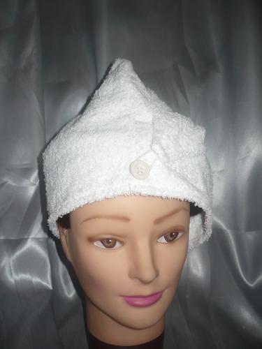 turbantes tipo capucha para todos los largos