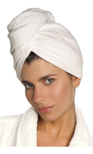 turbantes toalla cofia de cabello franco valente 100% algodo
