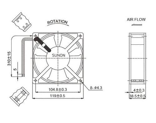 turbina cooler extractor 220v ruleman 4pulgadas 120mm sunnon