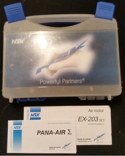 turbina dental nsk kit completo odontologico pana-air ex-203