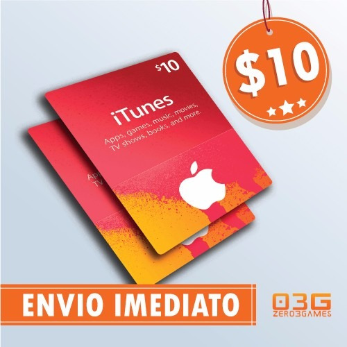 turbine seu ipod/iphone! itunes gift card de 10 dólares usa