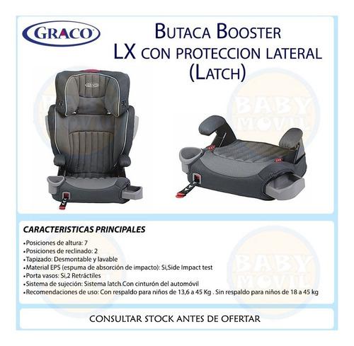 turbo booster lx respaldo desmontable affix graco latch