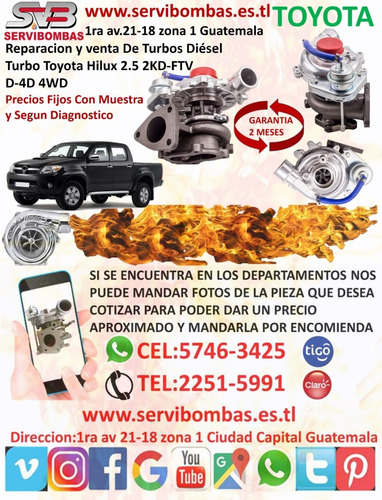 turbo diesel toyota hiace 3.0 1kz ct12b guatemala