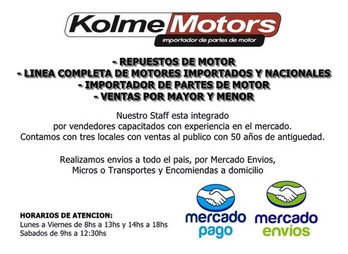 turbo ford 1.4 tdci mot. dv4 cuerpo central