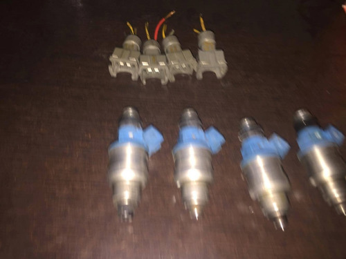 turbo inyectores 450cc blue top honda acura dsm eclipse set4