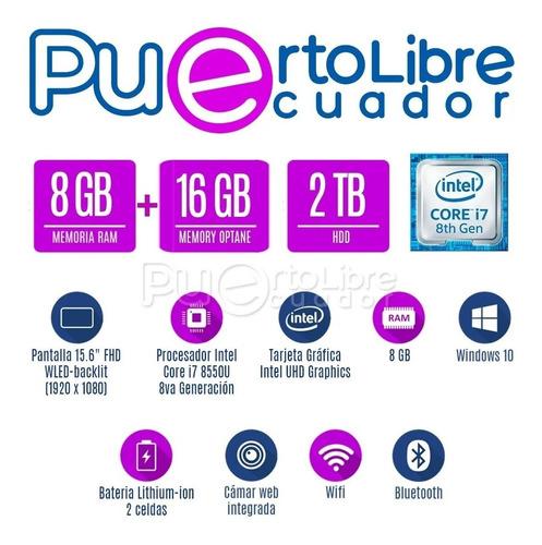 turbo lenovo core intel i7 + 8 gb + 2 tb + optane + regalos!