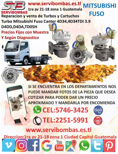 turbo mitsubishi l200 sportero 2.5  rhf4 /vt10 guatemala
